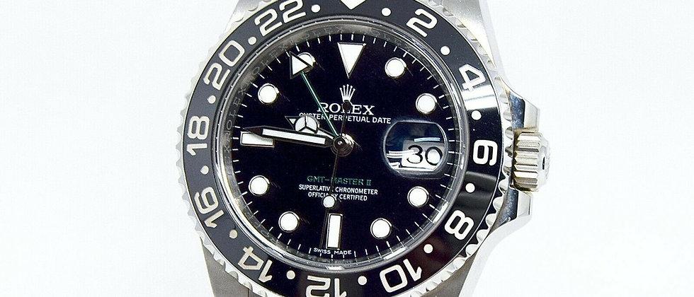 .Rolex GMT Master II 116710LN Box & Papers 2017 5 yr Rolex Warranty