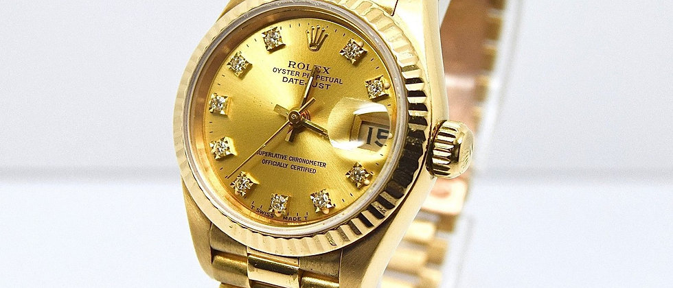 Rolex Date Just 69178 18K Yellow Gold with Diamond Dial