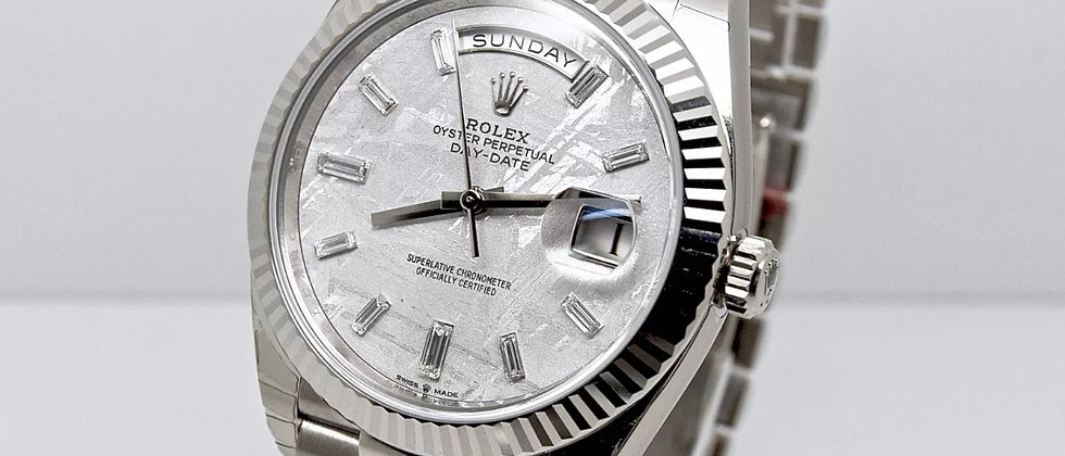 Rolex Day Date 228239 Meteorite Box and Papers 2018 New