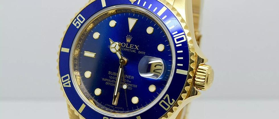 Rolex Submariner 16618 Box and Papers 2008 Rehaut