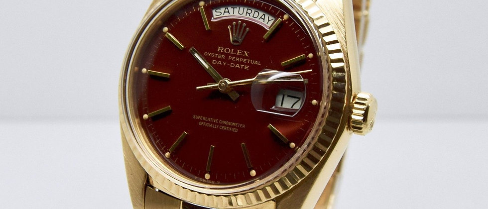 Rolex Day Date 1803 Stella Ox Blood Dial 1976 FULL SET RARE VINTAGE