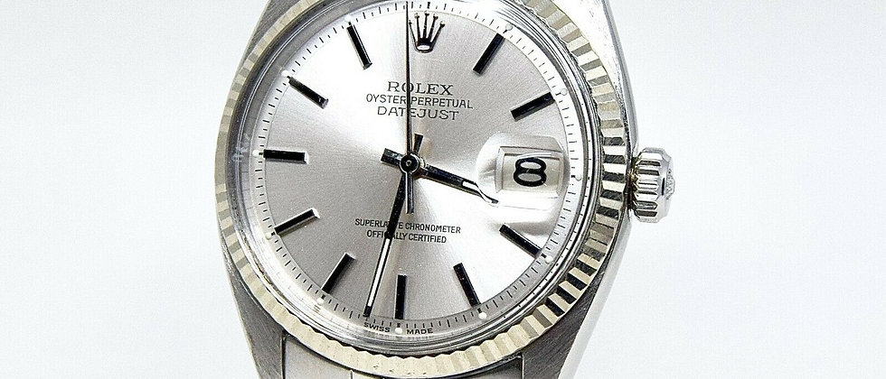 .Rolex Datejust 1601 Silver Dial and Original Folded link Jubilee bracelet