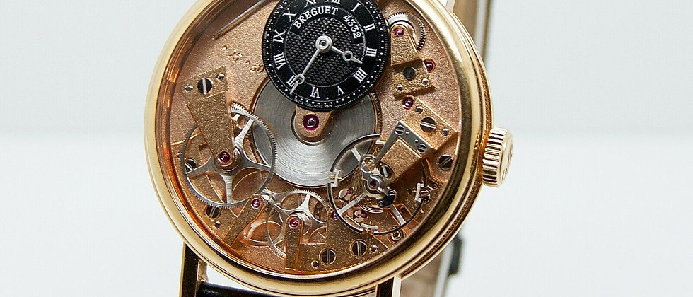 ".Breguet La Tradition Manual Wind ""v"" Skeleton 7057BR/R9/9W6"