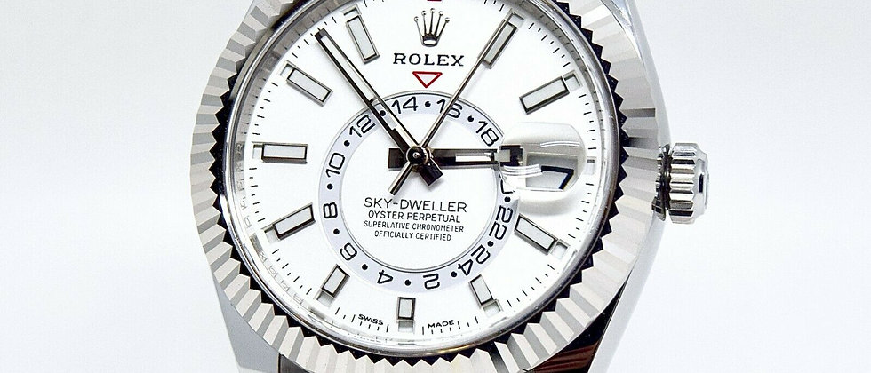 .Rolex Sky Dweller 326934 Box and Papers 2020 Brand New Unworn Silver/White Dial