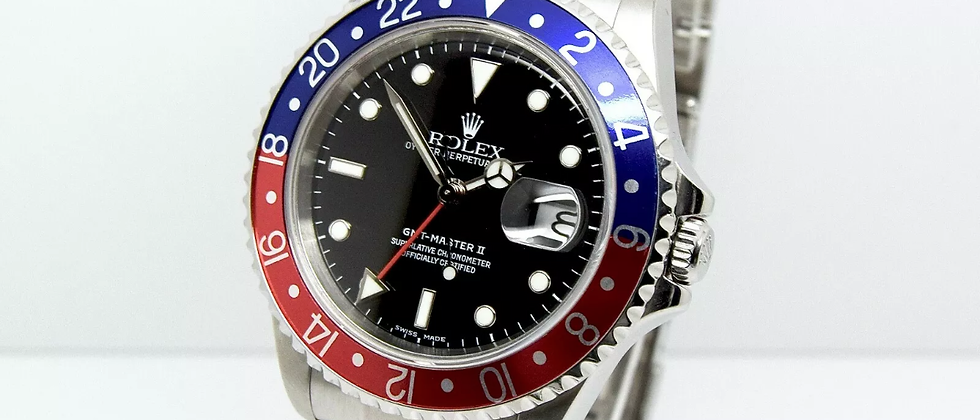 Rolex GMT Master II 16710blro Box and Papers 2004