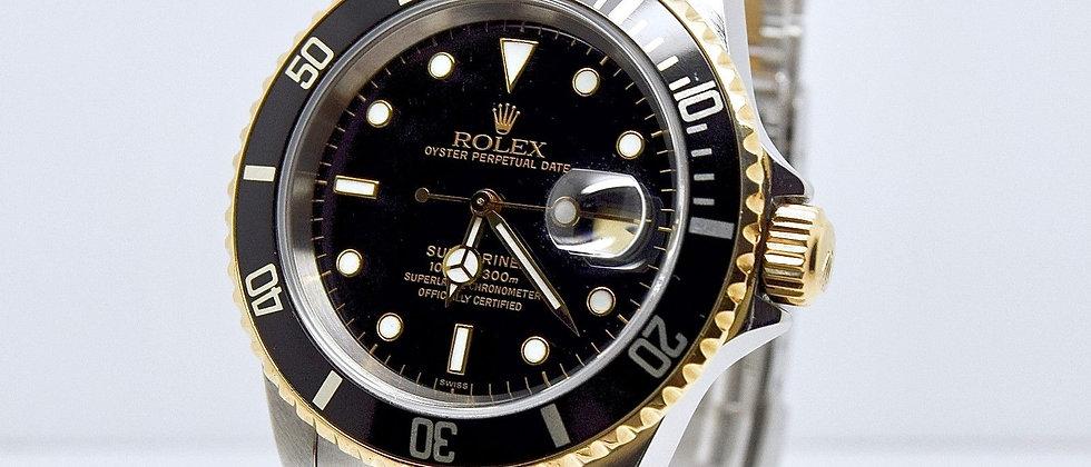 Rolex Submariner 16613 Black Dial FULL SET