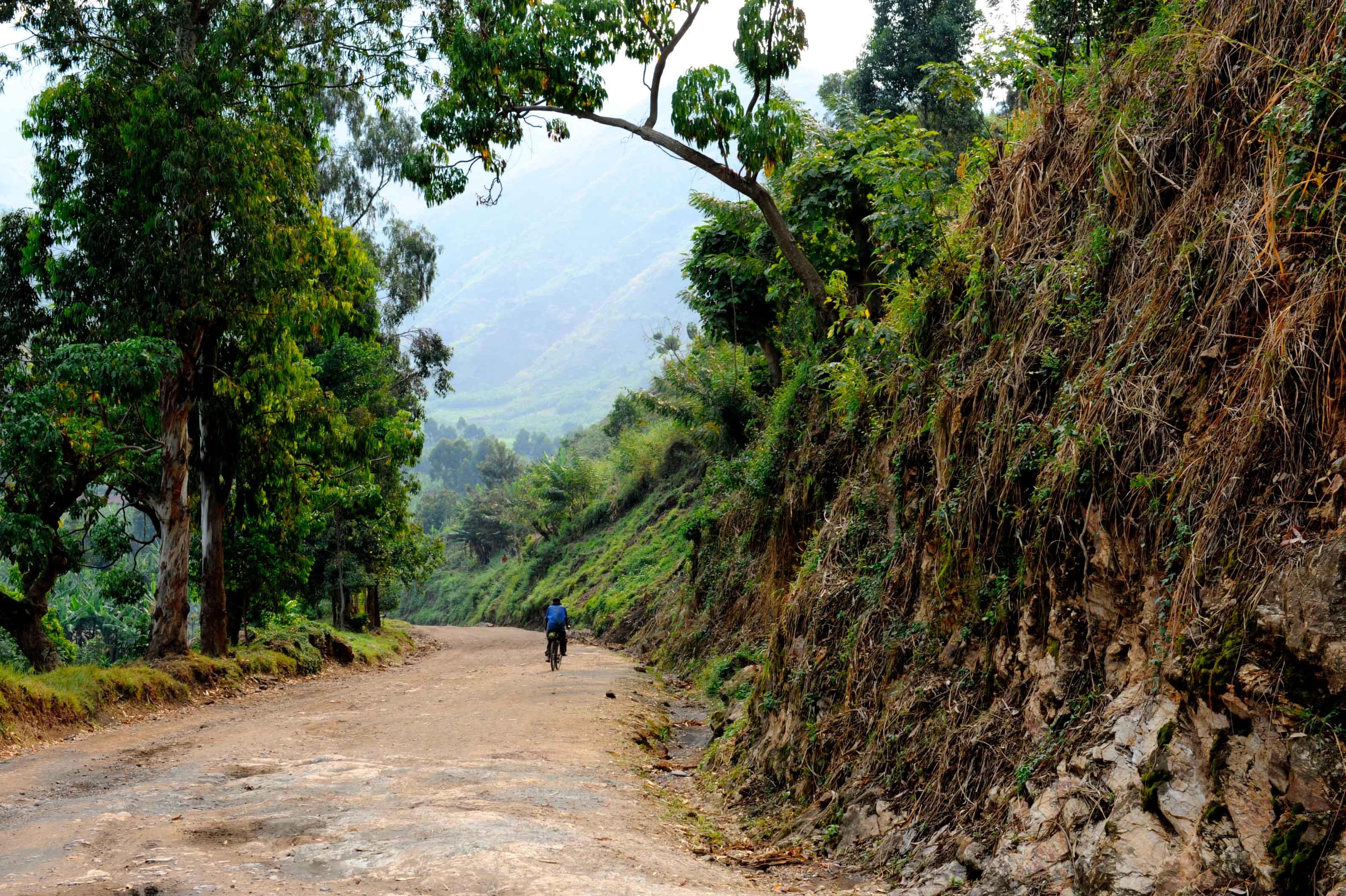 The road to Minova