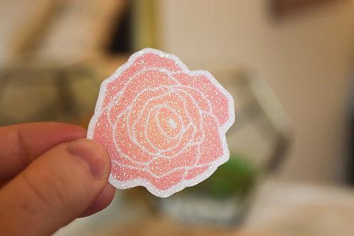 Glitter Rose Sticker