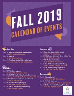 Fall 2019 Calendar of Events