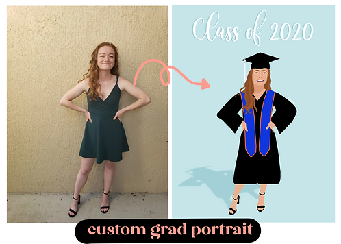 Custom Grad Portrait