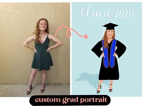Custom Grad Portrait