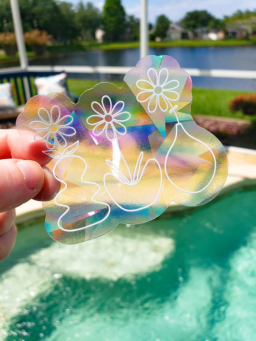 Floral Trio Rainbow Suncatcher