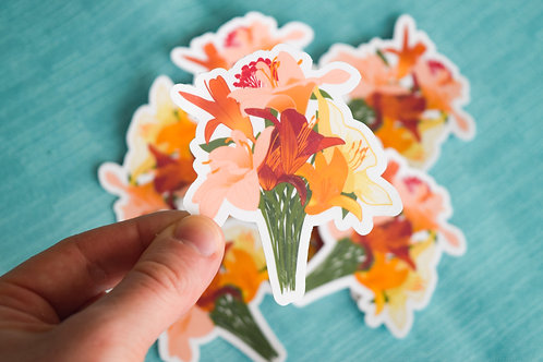 Lily Bouquet Sticker