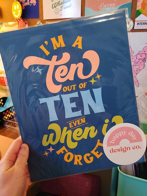 Ten out of Ten Print