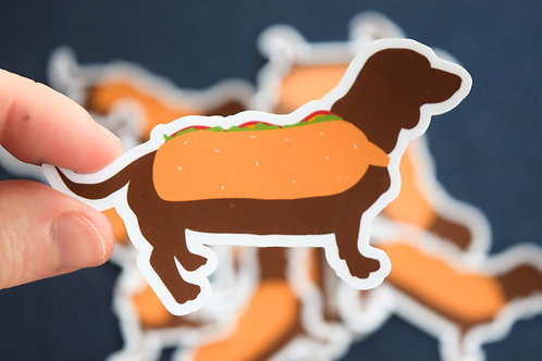 Hot Dog Sticker