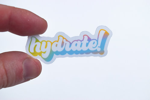 Hydrate Mini Sticker