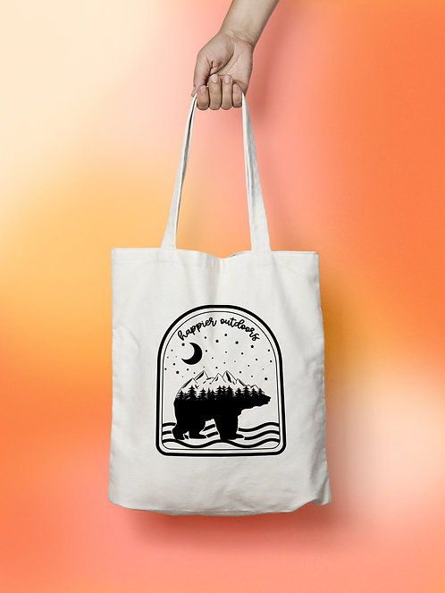 Happier Outdoors Canvas Tote Bag