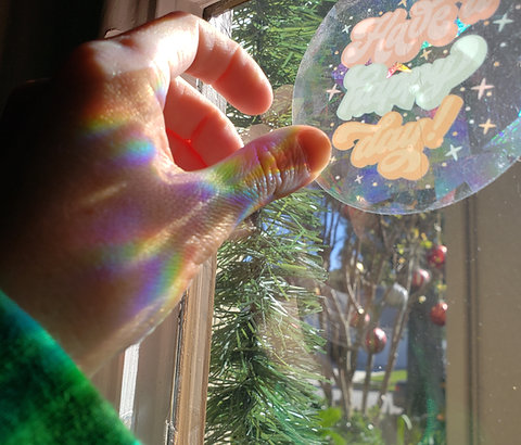 Have a Happy Day Rainbow Suncatcher