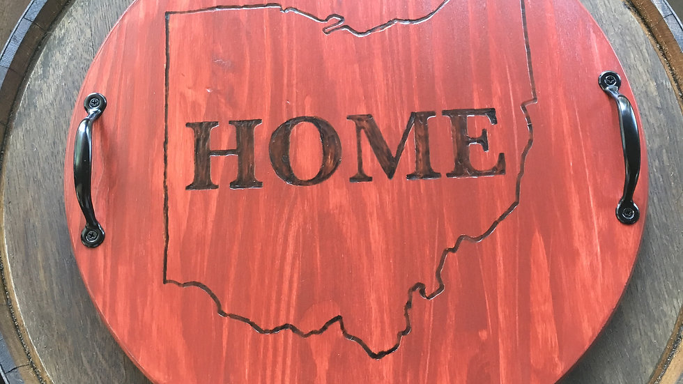 Burned Ohio Outline Boards- [In- Stock Wood Boards]