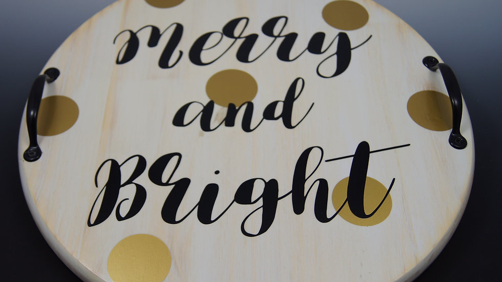 Merry and Bright Holiday Board- [In- Stock Wood Boards]
