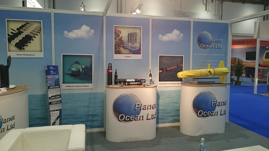 A.U.V.ino guest at Planet Ocean booth during Oceanology international 16