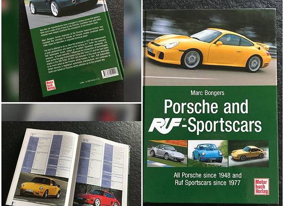 Porsche and RUF Sports Cars Book by Marc Bongers