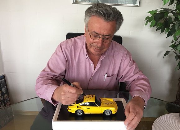 Limited Edition RUF CTR 'Yellow Bird' 1:18 Scale Model signed by Alois Ruf