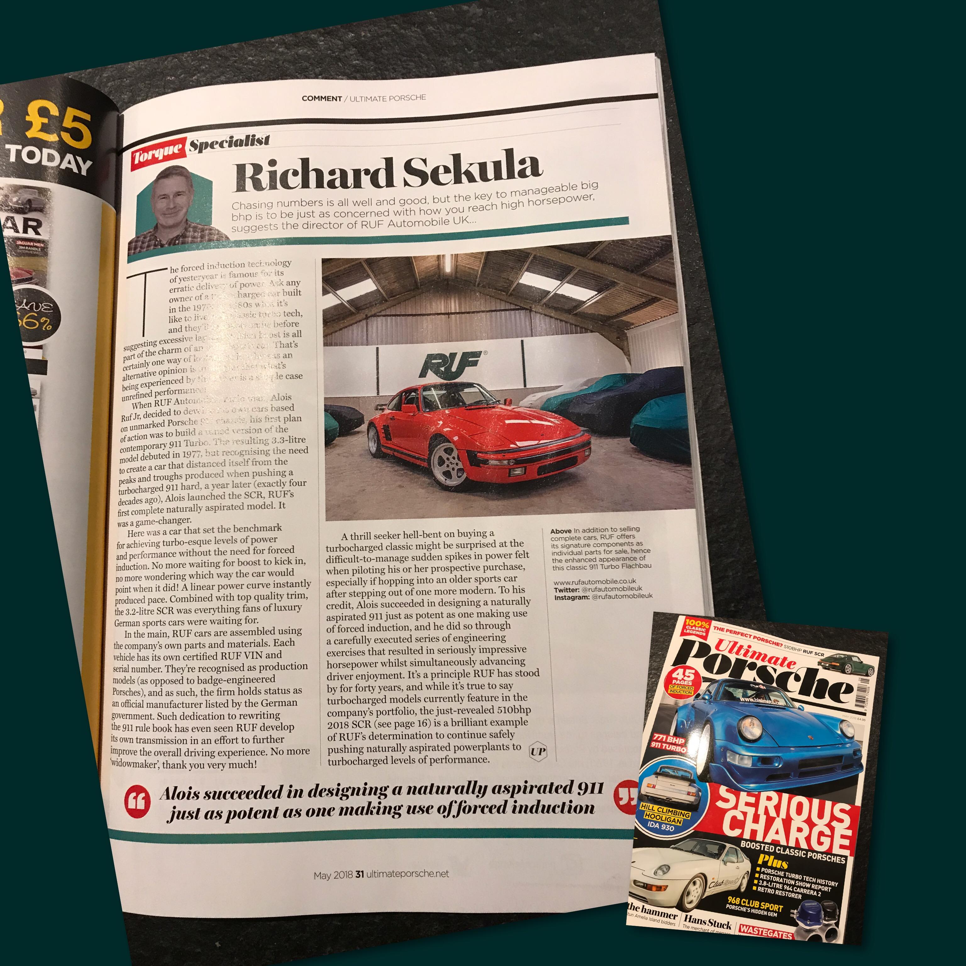 Ultimate Porsche Magazine Aug 2018