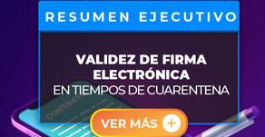 La firma digital a distancia en los contratos en tiempos de cuarentena ¿es valida?