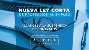 LEY CORTA / ALCANCES A LA SUSPENSIÓN DE CONTRATOS