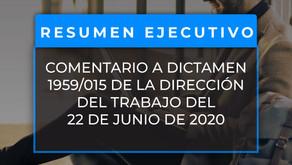 Comentario al nuevo Dictamen 1959/015 de la Dirección del trabajo