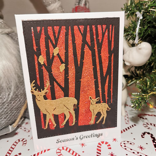 Bright Red Woodland Sparkle