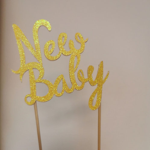 New Baby Cake Topper