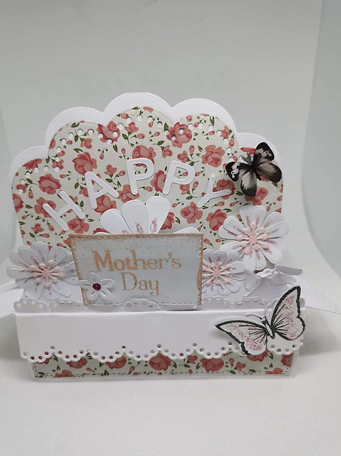 Pink Butterfly Pop Up Box Card