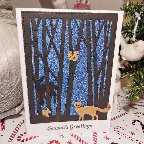 Blue Woodland Sparkles