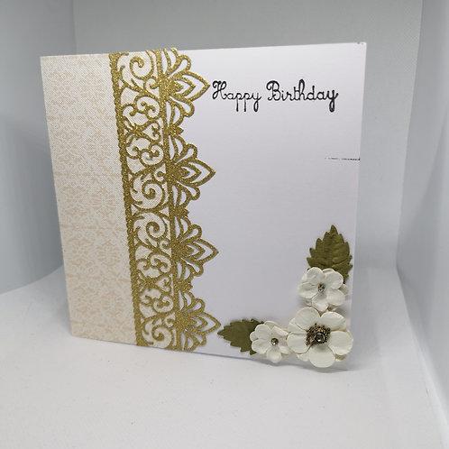Happy Birthday White Flower