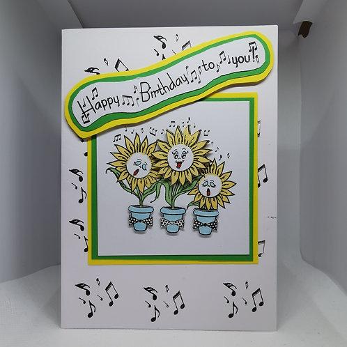 Singing Sunflower  Happy Birthday