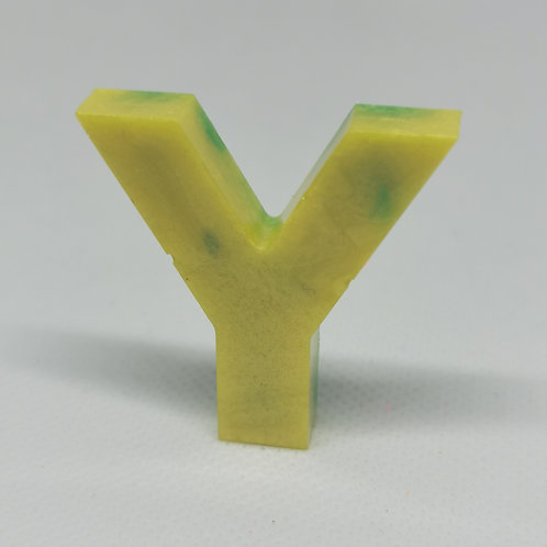 """Yellow and green """"Y"""" Keyrings"""