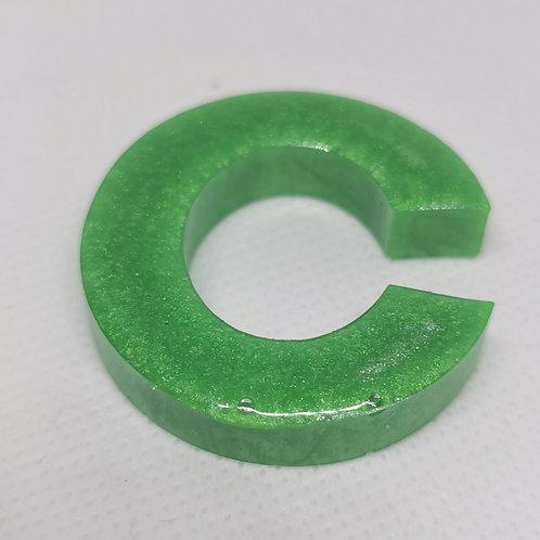"Green ""C"" Keyring"