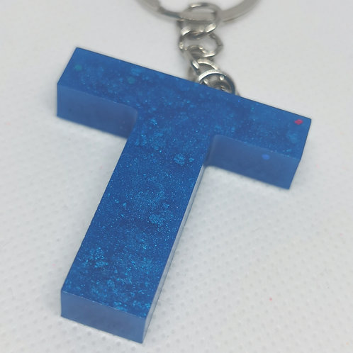 "Blue ""T"" Keyring"