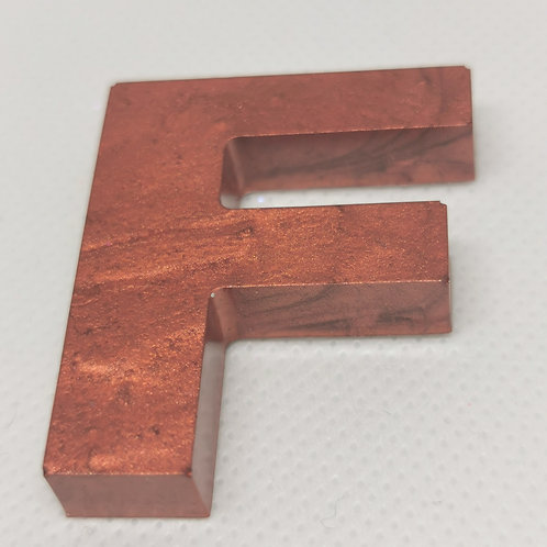 "Copper ""F"" Keyring"