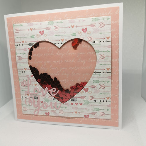 Love You Shaker Card
