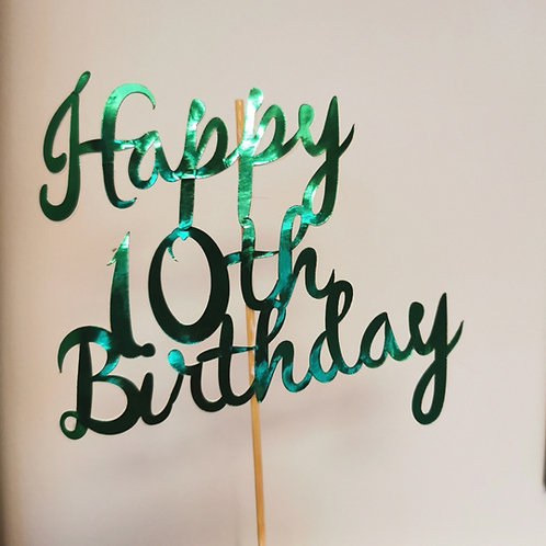Happy 10th Birthday Cake Topper