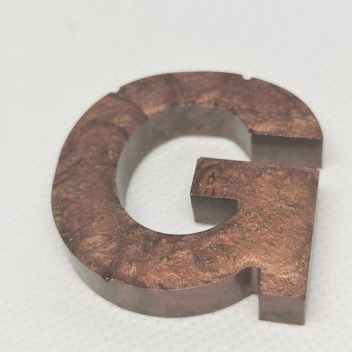"""Metallic Brown """"G"""" Keyring"""