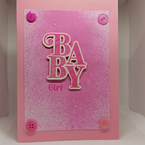 Baby Girl Wight backing pink spray