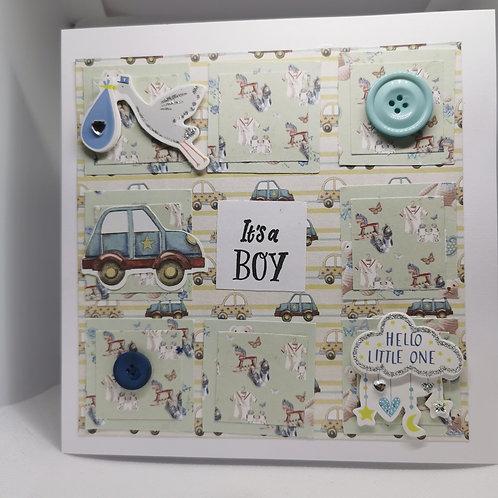it's a boy car hello little one