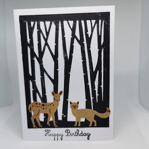 Woodland Happy Birthday