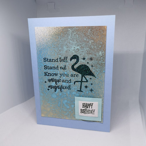 Flamingo mix spray Happy Birthday