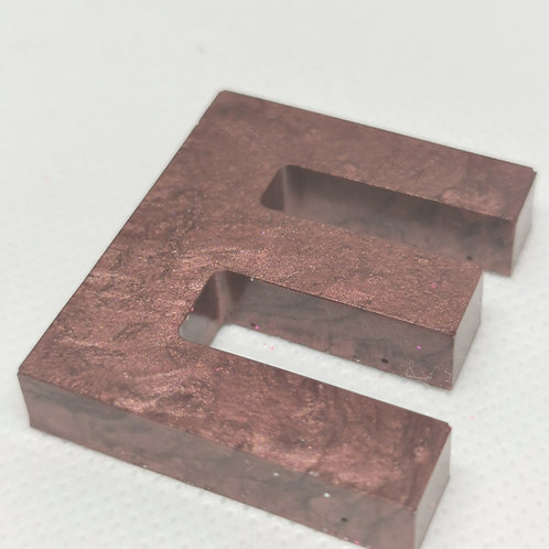 """Metallic Brown """"E"""" Keyring"""