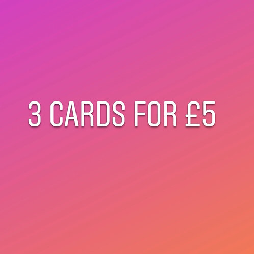 3 Card for £5